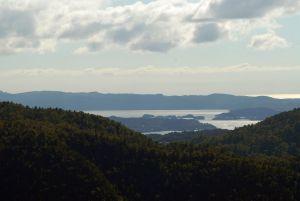 Vue panoramique au-delà de Bergen
