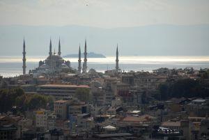 Vue de la Tour Galatasaray, Mosquée Bleue
