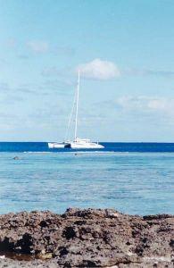 Tetiaroa, en catamaran